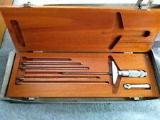 Vintage Brown And Sharpe Micrometer Depth Gage No 604 Wood Box