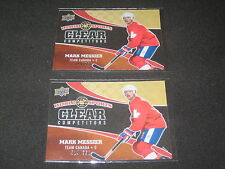 LOT (2) MARK MESSIER 2010 UD COMPETITORS PACK PULLED AUTHENTIC HOCKEY CARDS /550