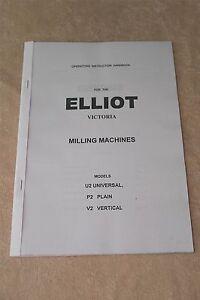 Elliot Victoria Milling Machine Manual