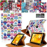 "For 7"" 8"" 10"" Alcatel Tablet - Folio Rotating Stand Wallet Leather Cover Case"
