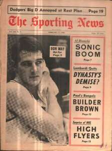 The Sporting News Newspaper Feb 17, 1968 Hgh Flyer Don May