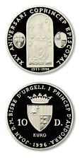 Andorra Msgr. Alanis, Co-Prince & Bishop of Andorra 10 Diners 1996 Proof Silver