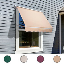 Outsunny Drop Retractable Window Awning Canopy Sun Shade Shelter Arm Manual