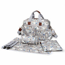 Mummy Baby Changing Maternity Bag Nappy Diaper Set Wipe Clean Lovely Cat Print