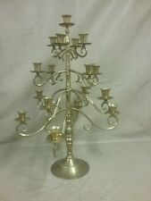 Beautiful Tall Brass 8 Tier Adjustable Candleabra