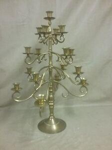 Beautiful Tall Brass 8 Tier Adjustable Candleabra