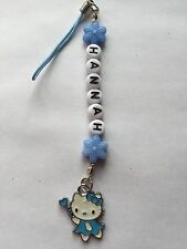 1 BLUE HELLO KITTY  BAG / PHONE ds CHARMS PERSONALISED GIFT