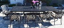 Elisabeth 11 Piece Cast Aluminum Patio Dining Set With St Austine Chairs