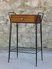 CHEVET VINTAGE,très joli chevet des années 1960, 1 tiroir, Jacques Hitier,DESIGN
