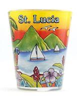 ST.LUCIA SUNSET SHOT GLASS SHOTGLASS