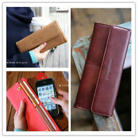PBS Womens Fashion Clutch Leather Long Handbag Ladys Bowknot Wallet Coin Purse