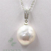 15-16mm white Baroque Pearl Pendant Necklace AAA South Sea accessories natural