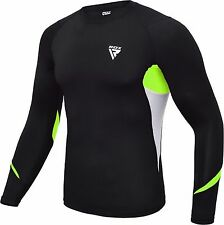 RDX Compression Shirt MMA Rash Guard Under Armour Base Layer Vest Weight Loss