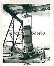 1960 Rocket Engine Removed from Underground Pit Original News Service Photo