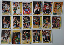 1991-92 Upper Deck Series 1 Boston Celtics Team Set Of 17 Basketball Cards