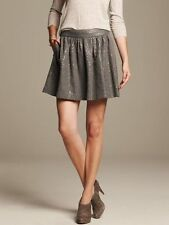 BANANA REPUBLIC HERITAGE Gold Gray Shine Full Mini Cocktail party Skirt Sz 14