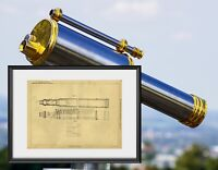 Original, One of a Kind Telescope Patent by Schröder & Stuart, 1888