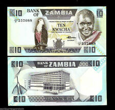 ZAMBIA 10 KWACHA P26 1980-1988 BUNDLE LOT KAUNDA EAGLE UNC X 100 PCS MONEY NOTE