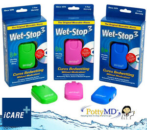 Wet-Stop 3 Bed Wetting Training Alarm System NEW PottyMD Cure Bedwetting