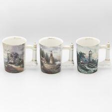 Thomas Kinkade Seaside Inspiration Heirloom Porcelain Mugs 5th Set A0818 2003