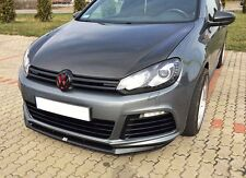 Spoilerlippe für VW Golf 6 VI R Lippe Front Spoiler Diffusor Ansatz Schwarz vorn