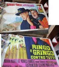RINGO E GRINGO CONTRO TUTTI manifesto 4F originale 1966 VIANELLO BUZZANCA