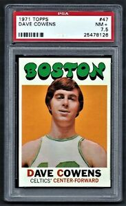 1971 Topps #47 DAVE COWENS Boston CELTICS PSA 7.5 NM+ CENTERED!