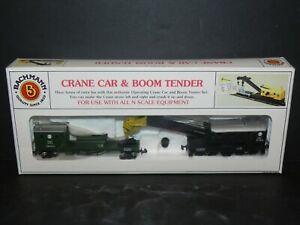 BACHMANN ~ N Scale N&W CRANE CAR & BOOM TENDER - Free Ship!