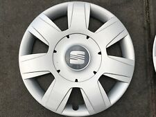 "SEAT ALTEA 16"" WHEEL TRIM X 1 HUB CAP GENUINE LEON 1P0601147 GREY BADGE"