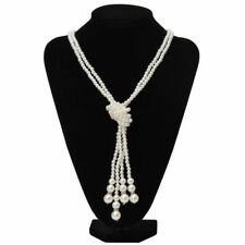necklace collar elegant jewelry Fashion women foux pearls Knot