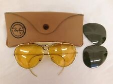 RAY BANS VINTAGE 12K GOLD FILLED AVIATORS PILOT SHOOTERS CASE EXTRA LENS