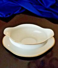 L. Bernardaud & Co. Limoge B & C France Gravy Boat with underplate *RARE*