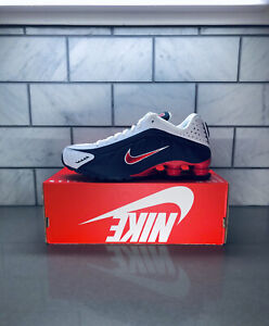 DS MENS NIKE SHOX R4 USA RED WHITE BLUE 104265 406 SZ 9.5 RUNNING AUTHENTIC
