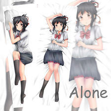 New Japanese Anime your name Miyamizu Mitsuha Otaku Hugging Body Pillow case