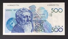Belgique - Superbe Billet de 500 Francs Meunier (Génie-Godeaux) 1986-89