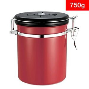 Airtight Stainless Steel Coffee Container Storage Canister Scoop CO2 Valve 1800L