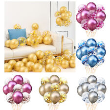25/50PC  Chrome Confetti Balloons Bouquet Birthday Party Decor Metallic Wedding