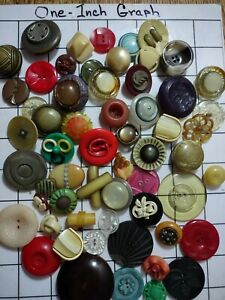 Large Lot Of Vintage Celluloid Buttons