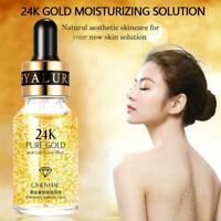 Hyaluronic Acid Serum Oil Control Antifalten 24K Gold Haut Gesicht Essenz I2D3