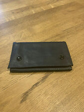 TOBACCO POUCH Black SOFT LEATHER (Pu) Purse WALLET UK SELLER