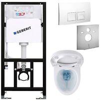 WC  Element  mit Spülkasten Geberit Wand WC spülrandlos Vorwandelement Set