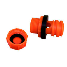 Blaze Orange Replacement Drain Plug w/ Hose Connection Coolers Yeti Compatible