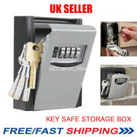 OUTDOOR SECURITY WALL MOUNTED KEY SAFE BOX CODE SAFER LOCK STORAGE 4 Digit UK