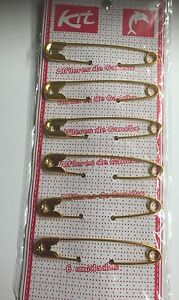 """6x  75mm 3"""" extra large baby SAFETY kilt PINS LARGE OVERSIZED METAL RUST Jewelry"""