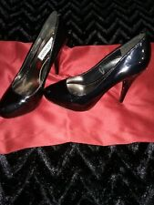 Womens 7.5 Black Patent Leather Mary Jane Classic Steve Madden Stilletto Heels