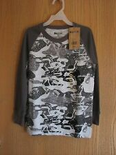NWT Boys BAILEY'S PT Camo Gray Thermal Long Sleeve Shirt Size XS(4/5)