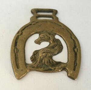 Schlüsselanhänger Messing England Horse Brass vom Kamin eines Pubs in Devonshire