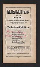 KASSEL, Werbung 1911, Mull-Zellstoff-Fabrik GmbH Säuglings-Windeln