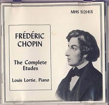 Frederic Chopin - Louis Lortie: The Complete Etudes (MHS) Like New