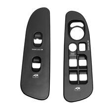 Right&Left Black Window Door Lock Switch Bezel Panel For 02-05 Dodge Ram 1500